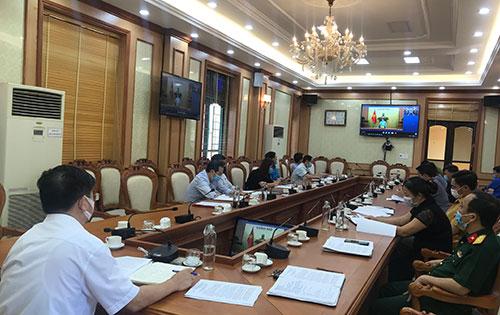 Huyện Cẩm Khê dự hội nghị trực tuyến toàn quốc về  công tác phòng, chống dịch bệnh Covid -19