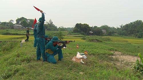 Ban Chỉ huy Quân sự huyện Cẩm Khê tổ chức  kiểm tra bắn đạn thật đối với lực lượng dân quân năm 2020.