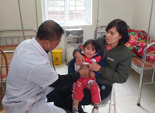 Trạm Y tế xã Hương Lung duy trì tốt Bộ tiêu chí Quốc gia về y tế.