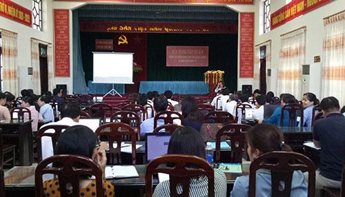 Hội nghị tập huấn nghiệp vụ  kiểm soát thủ tục hành chính và một cửa điện tử