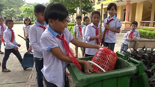 Hiệu quả mô hình phân loại và xử lí rác ở trường tiểu học Ngô Xá.
