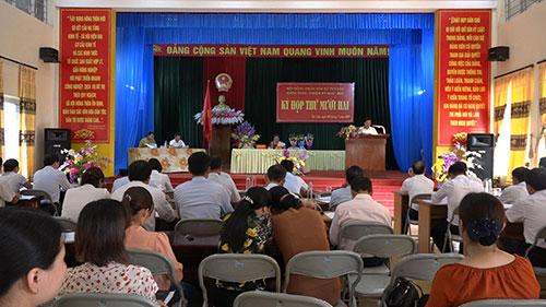 Tuy Lộc tổ chức kỳ họp thứ mười hai HĐND xã khóa XVIII,  nhiệm kỳ 2016-2021