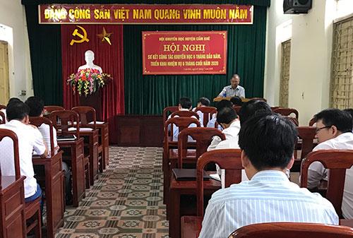 Hội Khuyến học huyện Cẩm Khê tổ chức hội nghị sơ kết  công tác khuyến học 6 tháng đầu năm 2020
