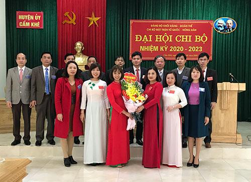 Chi bộ Mặt trận Tổ quốc – Hội Nông dân huyện tổ chức  Đại hội chi bộ điểm nhiệm kỳ 2020-2023.