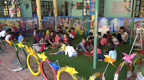 Trường Mầm non Sơn Tình duy trì, nâng cao chất lượng đạt chuẩn quốc gia