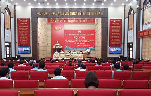 Hội nghị trực tuyến tiếp xúc giữa cử tri với người ứng cử đại biểu HĐND tỉnh Phú Thọ khóa XIX, nhiệm kỳ 2021 – 2026 vận động bầu cử, Đơn vị bầu cử số 8.